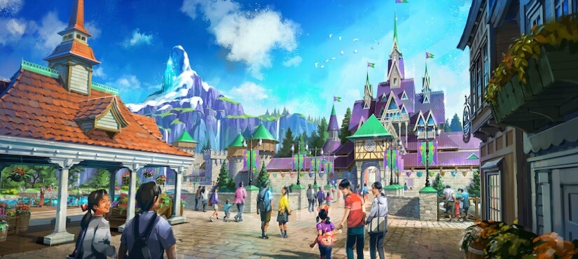 Artist rendering imagines Arendelle  and it's castle as a new possible addition to Disneyland