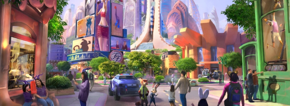 Zootopia's City Center rises as  the background for a new possible DCA land.